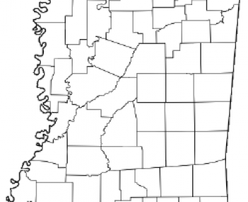 Location of Ashland, Mississippi