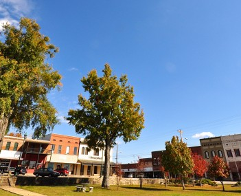 Historic downtown Iuka in November, 2013.