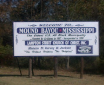 Location of Mound Bayou in Mississippi