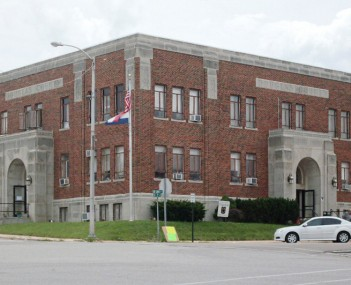 Douglas County court house on the southeast corner of the Ava square