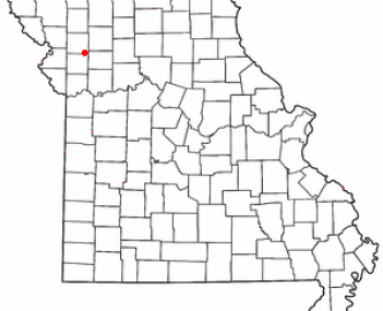 Location of Cameron, Missouri