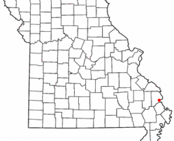 Location of Cape Girardeau