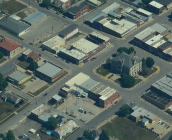 Aerial view of Carrollton, Missouri