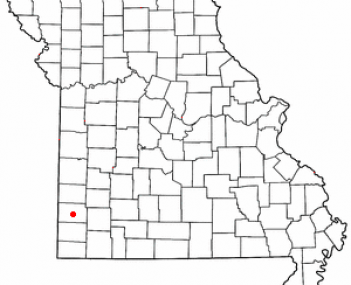 Location of Carthage, Missouri