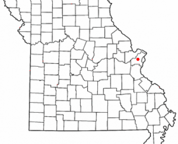 Location of Creve Coeur, Missouri