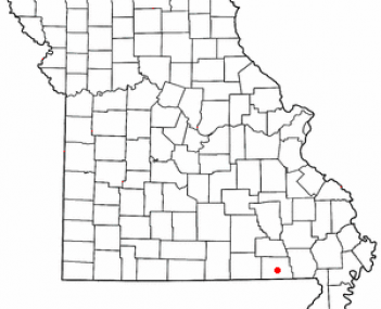 Location of Doniphan, Missouri