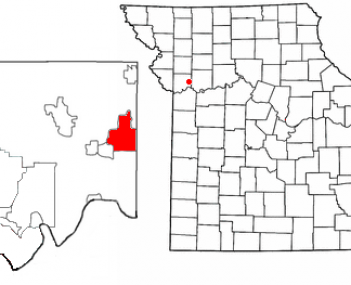 Location of Excelsior Springs, Missouri