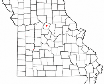 Location of Fayette, Missouri
