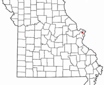 Location of Florissant, Missouri