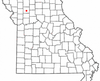 Location of Gallatin, Missouri