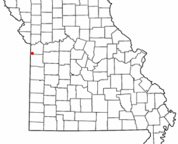 Location of Grandview, Missouri