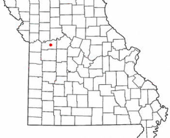 Location of Higginsville, Missouri