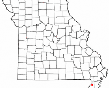 Location of Kennett, Missouri