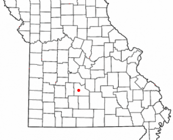 Location of Lebanon, Missouri