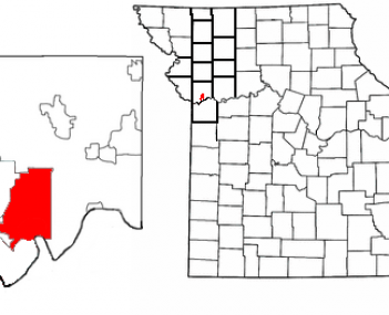 Location in the state of Missouri and in Clay County