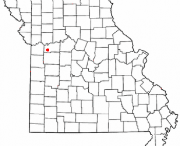 Location of Odessa, Missouri