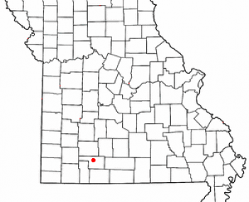 Location of Ozark, Missouri