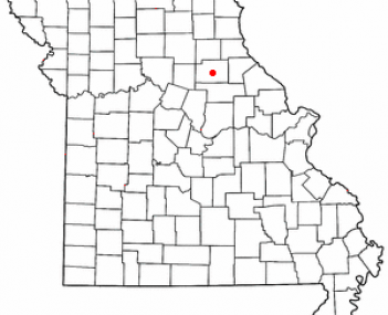 Location of Paris, Missouri
