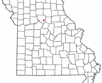 Location of Salisbury, Missouri