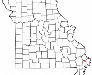 Location of Sikeston, Missouri
