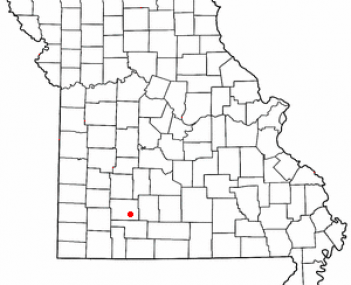 Location of Springfield, Missouri