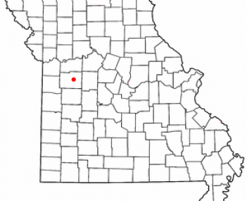 Location of Warrensburg, Missouri