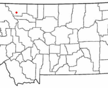 Location of Browning, Montana