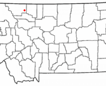 Location of Cut Bank, Montana