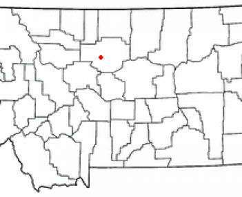 Location of Fort Benton, Montana