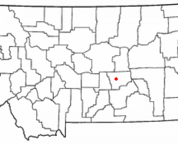 Location of Roundup, Montana