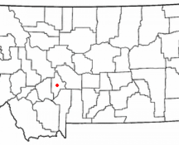 Location of Townsend, Montana