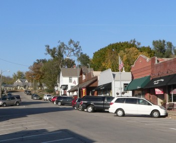 Downtown Elkhorn: Main Street, looking north