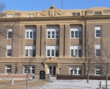 Greeley County courthouse in Greeley