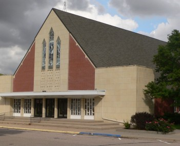 Bethesda Mennonite Church in Henderson.  The majority of the city's residents are descended from 35 Mennonite families who settled the area in 1874.