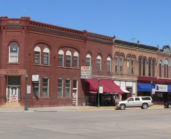 Downtown Hooper: northwest corner of Main and Fulton