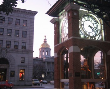 The New Hampshire State House as seen from Eagle Square