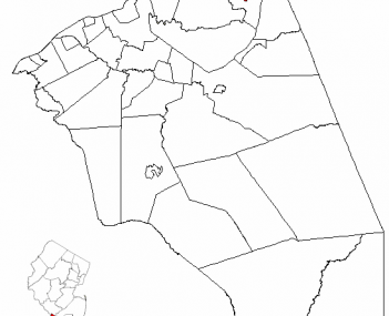 Census Bureau map of Bordentown, New Jersey