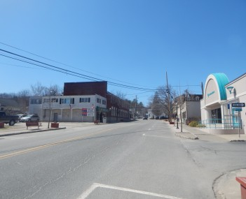 Downtown Branchville along with County Route 630.