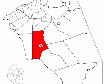 Census Bureau map of Medford Township, New Jersey