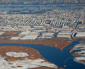 View looking Eastward from Meadowlands to Hudson River