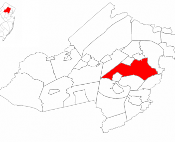 Parsippany-Troy Hills Township highlighted in Morris County. Inset map: Morris County highlighted in the State of New Jersey.