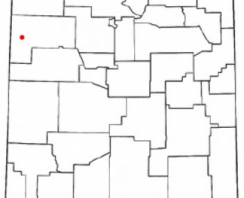 Location of Gallup in New Mexico