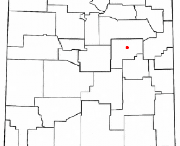 Location of Santa Rosa, New Mexico