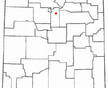 Location of Tesuque, New Mexico