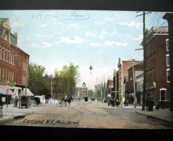 PostcardCortlandNYMainSt1906
