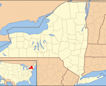 Location of Delmar within the state of New York