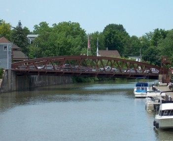 The Fairport lift bridge
