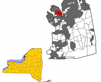File-Nassau County New York Incorporated and Unincorporated areas Port Washington Highlighted