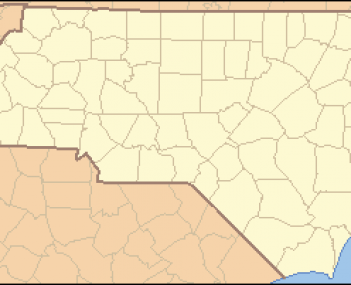 North Carolina Map Highlighting Buncombe County