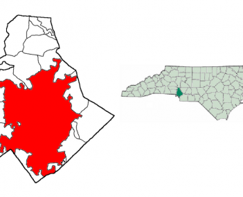 Location in Mecklenburg County in the state of North Carolina